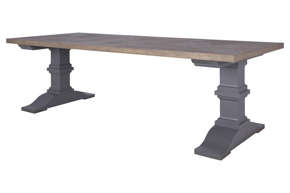 Canett Sundown - spisebord - gråbejdset eg - 240x100 på unoliving.com