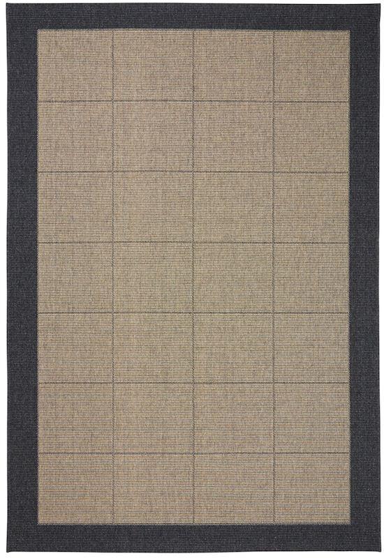 New casablanca uld tæppe m. mørk grå kant fra N/A på unoliving.com