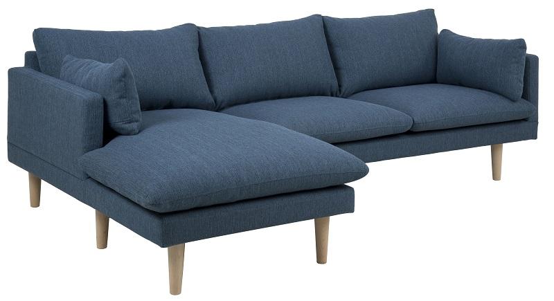 Salena chaiselong sofa - blå - venstre fra N/A fra unoliving.com