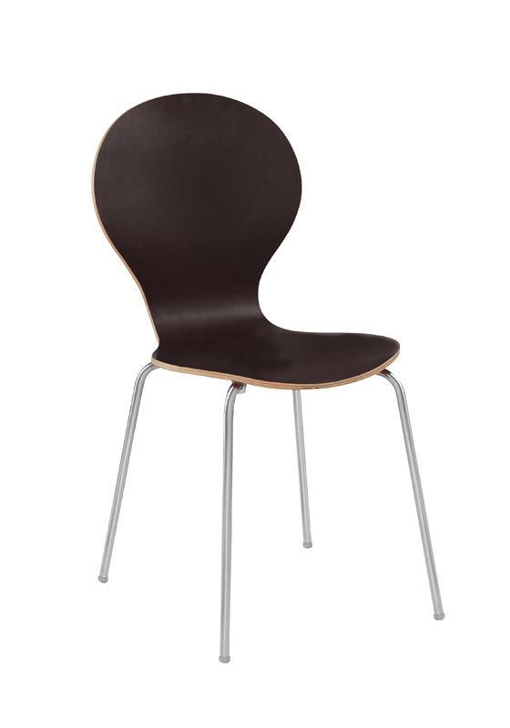 N/A Bubble spisebordsstol - sort lamineret krydsfinér på unoliving.com
