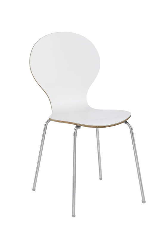 N/A Bubble spisebordsstol - hvid lamineret krydsfinér fra unoliving.com