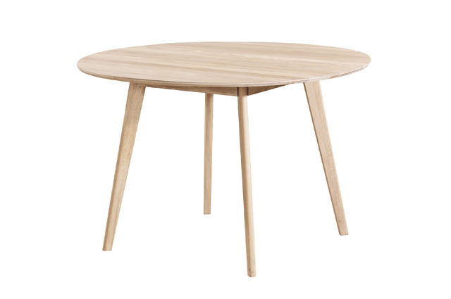 N/A – Bello spisebord - hvid egefinér - ø115 på unoliving.com