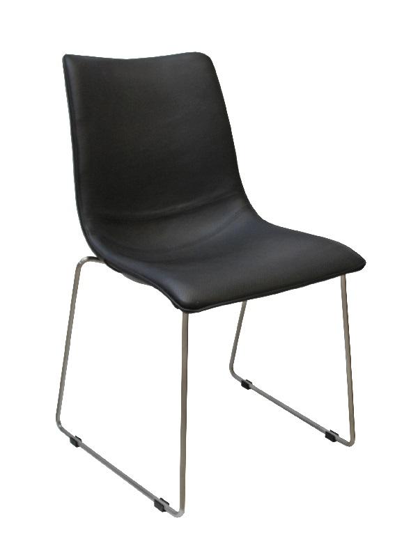 Canett eccho spisebordsstol - sort m slædeben fra Canett på unoliving.com