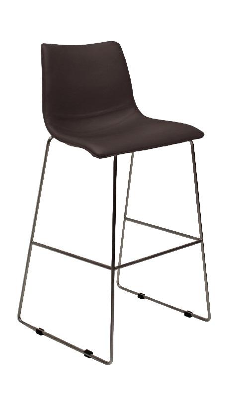 Canett Canett eccho barstol - brun m. slædeben på unoliving.com