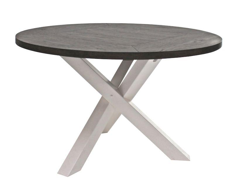Canett hamptons spisebord eg finér - hvid - ø120 fra Canett fra unoliving.com