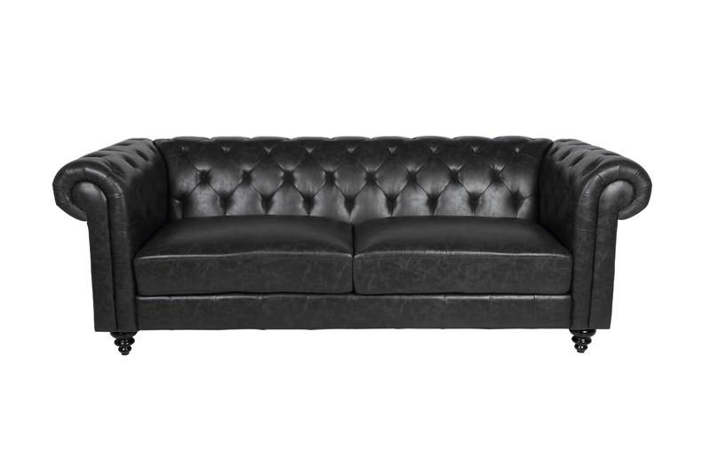 N/A – Chester 3-pers. sofa - sort på unoliving.com