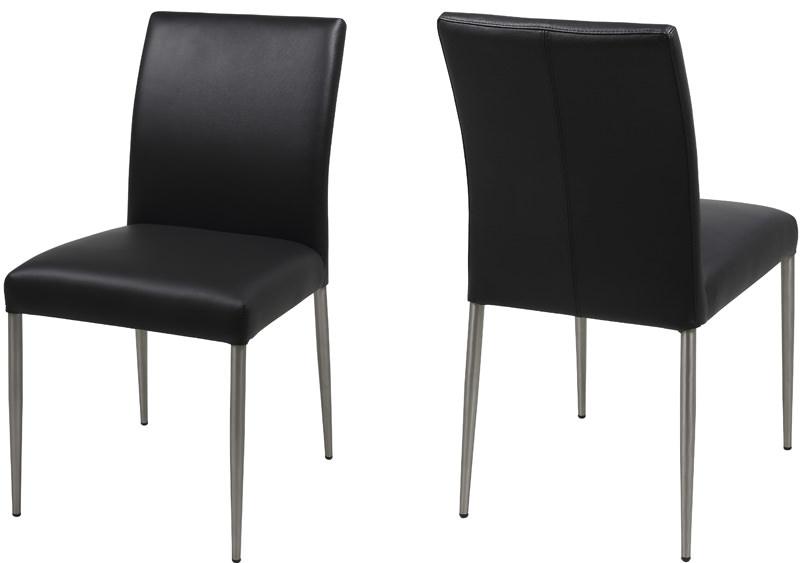 Hjo spisebordsstol - sort læder fra N/A på unoliving.com