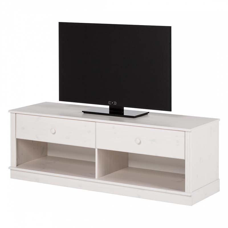 N/A – Anja tv-bord hvid lakeret fyrretræ på unoliving.com