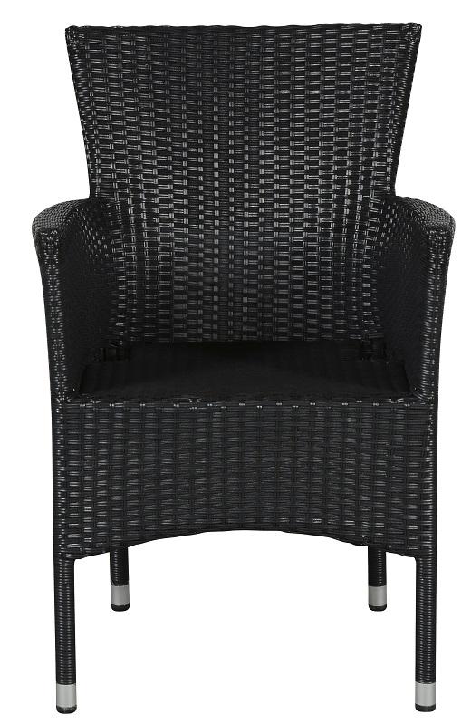 N/A – Asta havestol med armlæn - sort fra unoliving.com