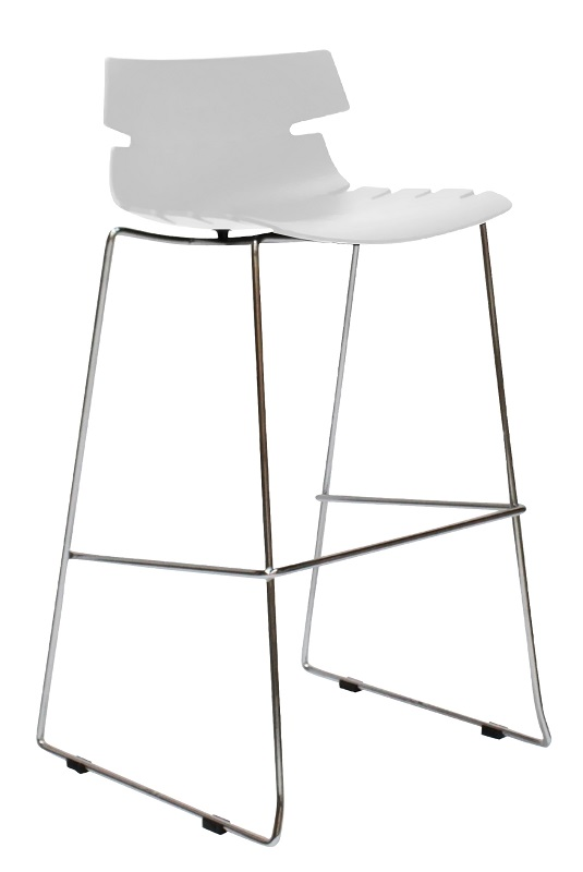 Canett idaho barstol - mat hvid plastik fra Canett på unoliving.com