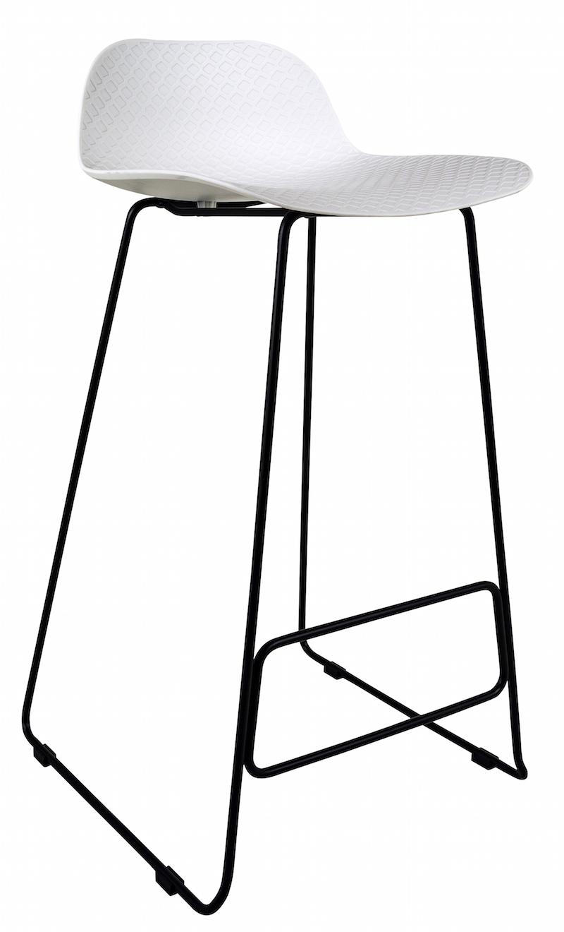 Canett Paris barstol h93 - sæde i hvid pp fra unoliving.com