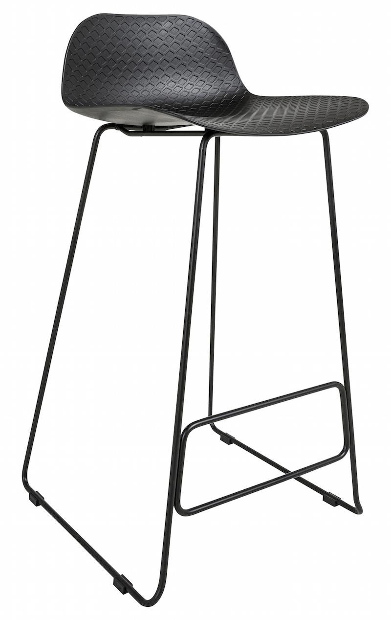 Paris barstol h93 - sæde i sort pp fra Canett på unoliving.com