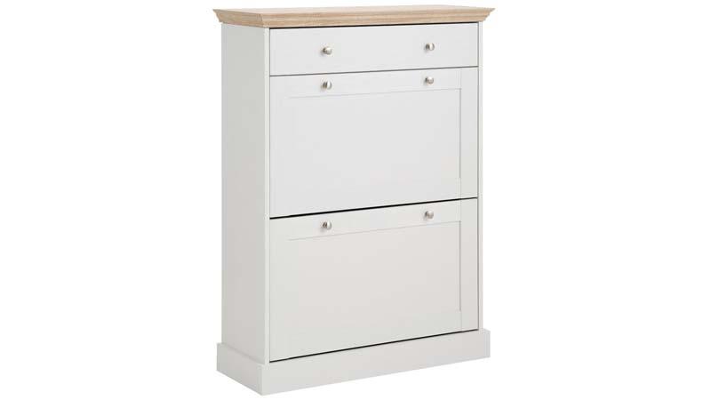 N/A – Bino skoskab hvid, ege-look fra unoliving.com