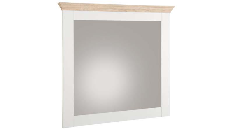 Bino spejl hvid, ege-look fra N/A fra unoliving.com