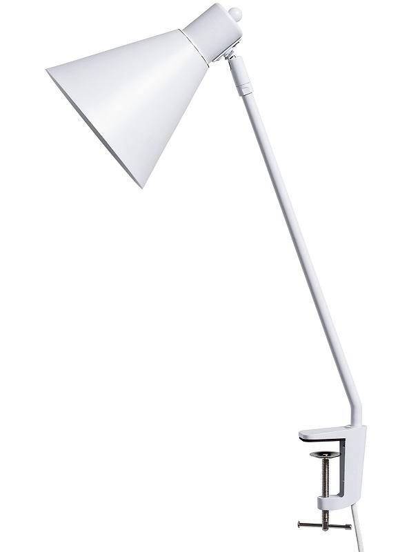 Bloomingville bordlampe - hvid metal fra Bloomingville fra unoliving.com