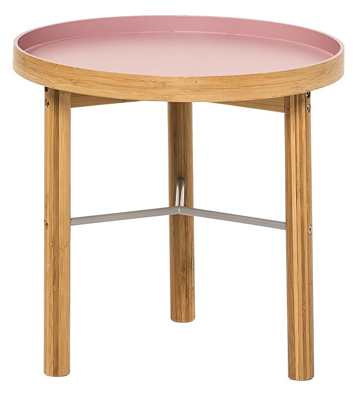 Bloomingville – Bloomingville tea sidebord - bambus lyserød fra unoliving.com