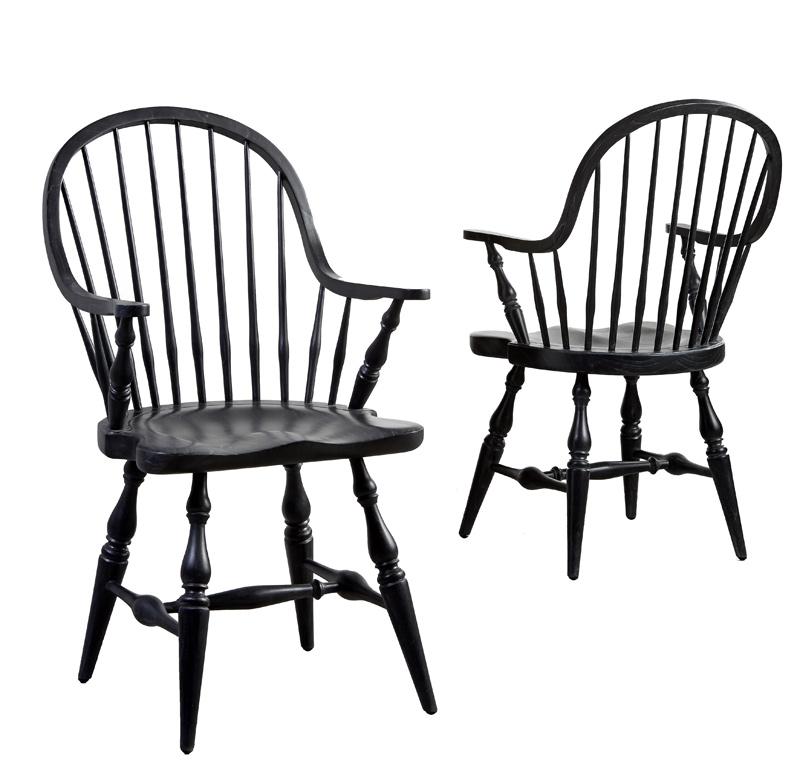 Canett lincoln spisebordsstol m. armlæn - sort fra Canett fra unoliving.com
