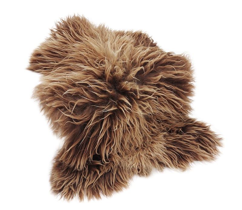 Canett – Canett sheep skind - brun fra unoliving.com