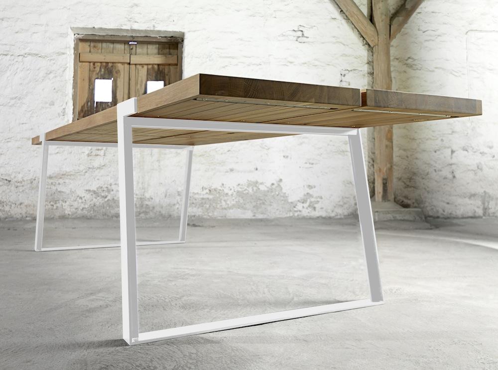 Rustic spisebord - 100x240 - eg og hvid metal fra Canett fra unoliving.com