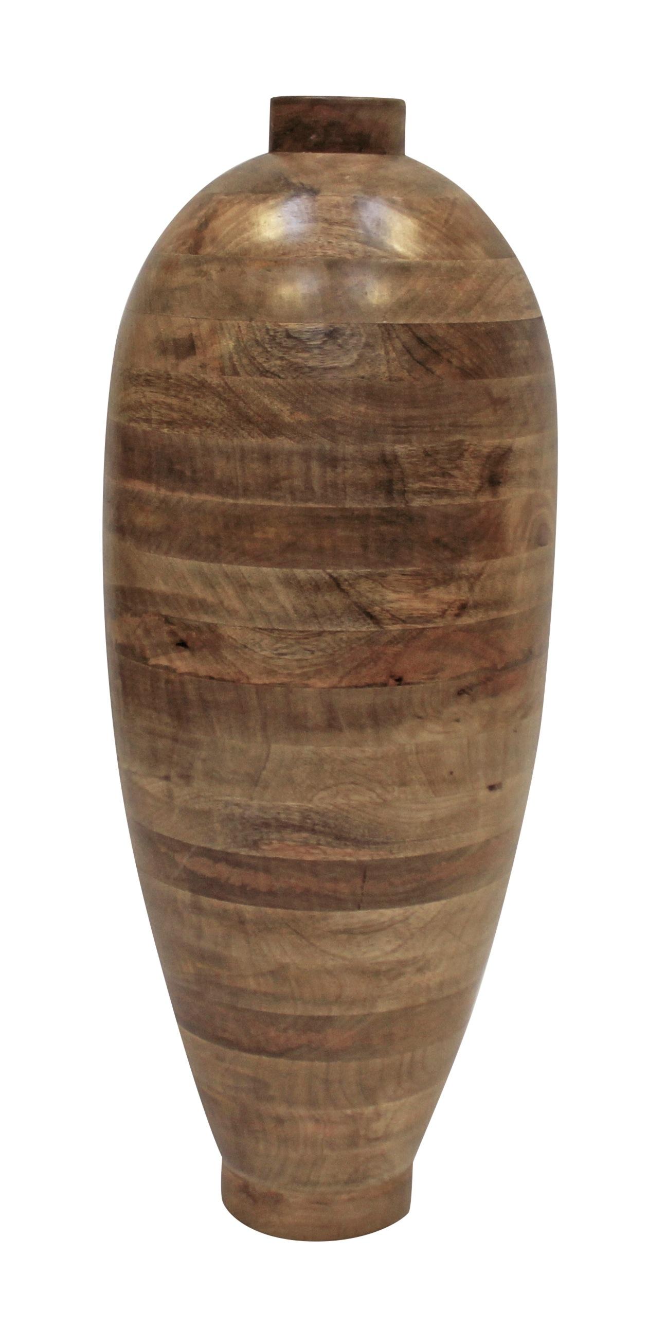 Canett wood vase - massiv mangotræ - h:77 fra Canett fra unoliving.com