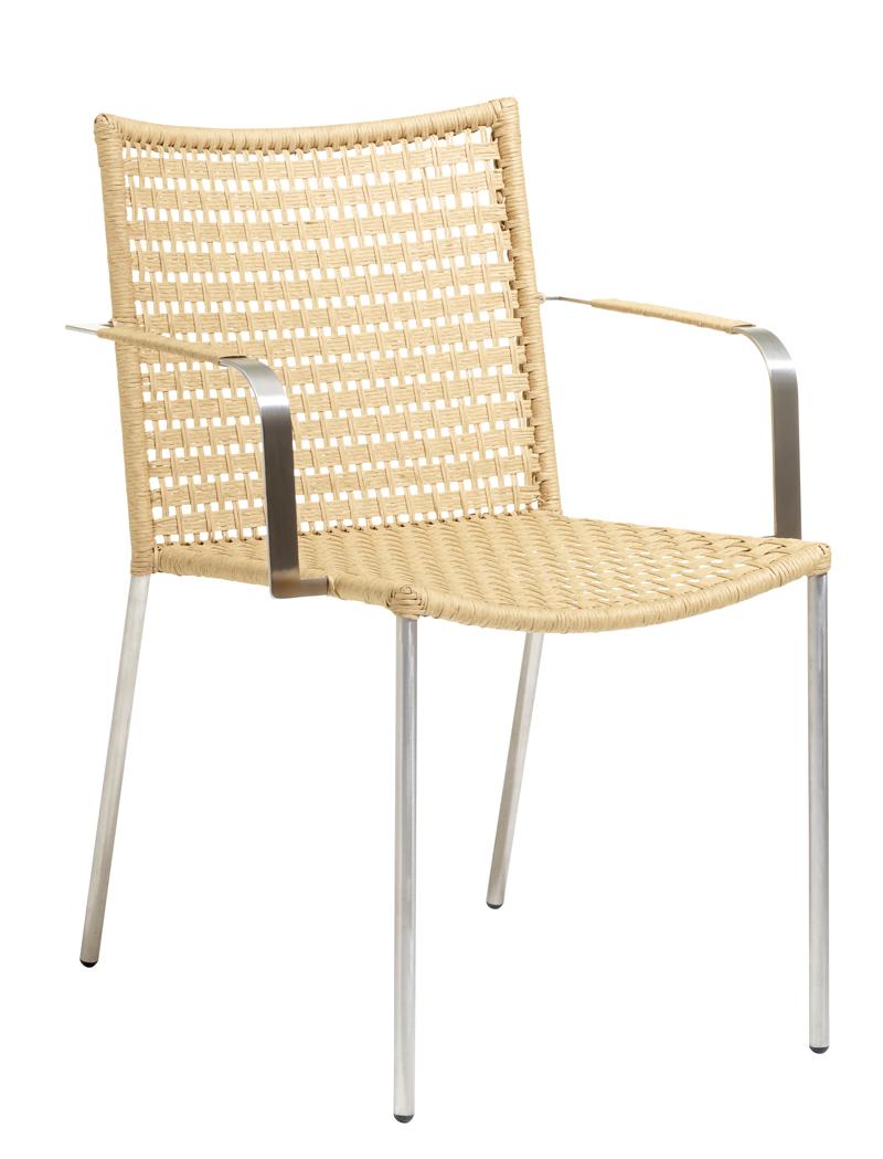 Cane-line - straw spisebordsstol m/arm - natur fra Cane-line fra unoliving.com
