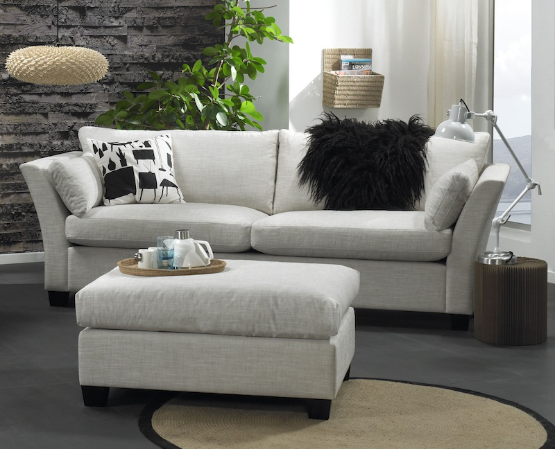 N/A Mossley 3-pers. sofa - beige stof på unoliving.com