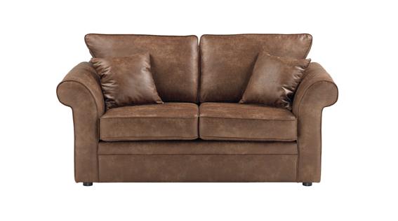Formby 2-pers. sofa - brun stof fra N/A på unoliving.com