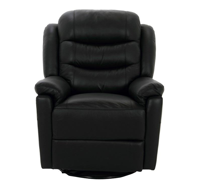 N/A Chandler recliner m/drejefod - sort læder fra unoliving.com