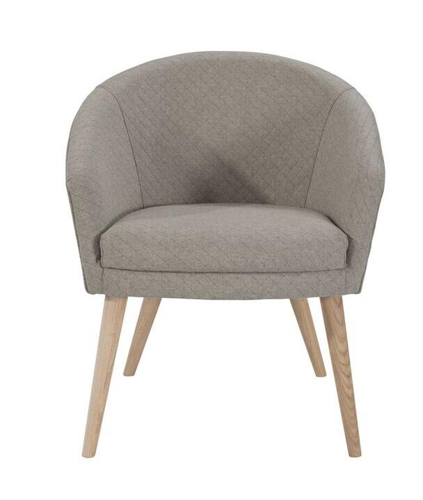 N/A – Charlot spisebordsstol - beige stof fra unoliving.com