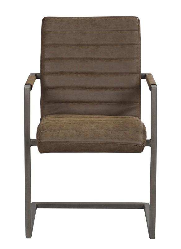 N/A Clark spisebordsstol m. armlæn - brun pu fra unoliving.com