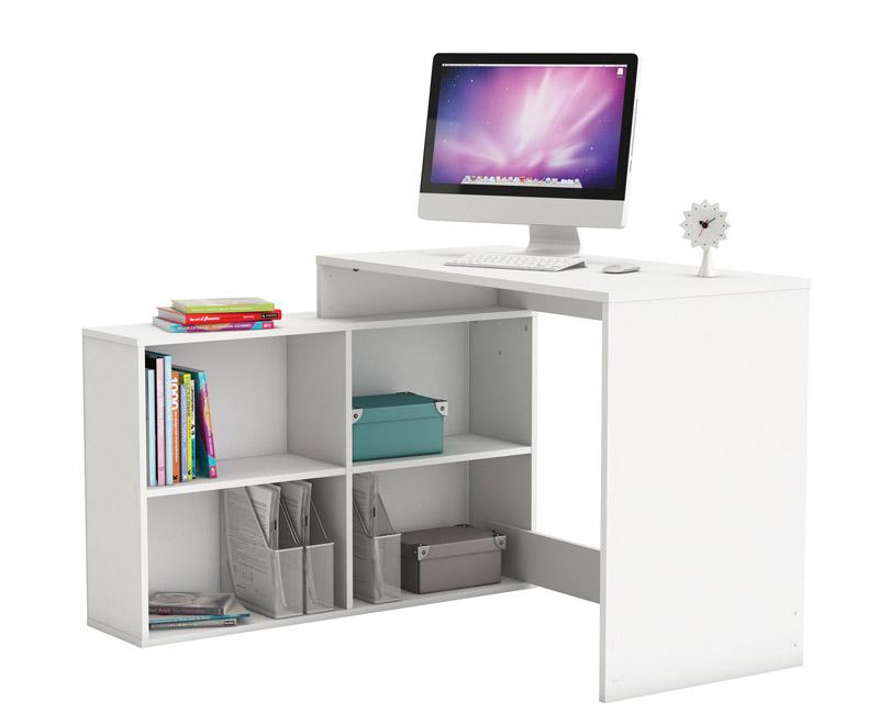 N/A Corner skrivebord - hvid fra unoliving.com