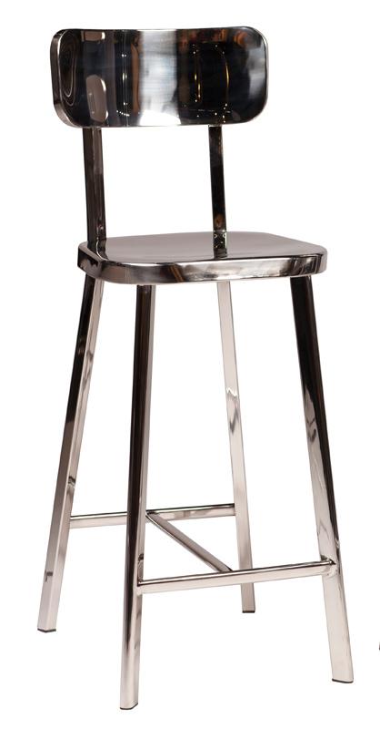 Danform - carisma barstol - poleret stål fra Dan-form fra unoliving.com