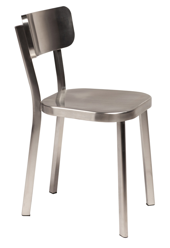 Dan-form – Danform - carisma spisebordsstol - poleret stål på unoliving.com
