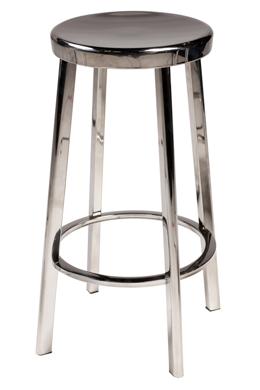 Danform - carisma høj skammel - poleret stål fra Dan-form fra unoliving.com
