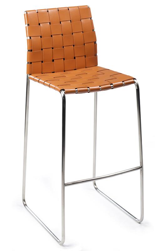 Danform - bond barstol - brun reg. læder fra Dan-form fra unoliving.com