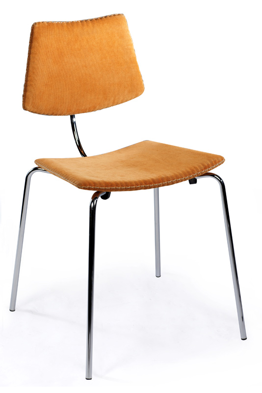Dan-form Danform - cha cha spisebordsstol - orange fløjl på unoliving.com