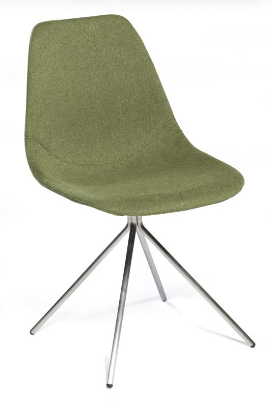 Dan-form Danform - spider spisebordsstol - grøn stof på unoliving.com