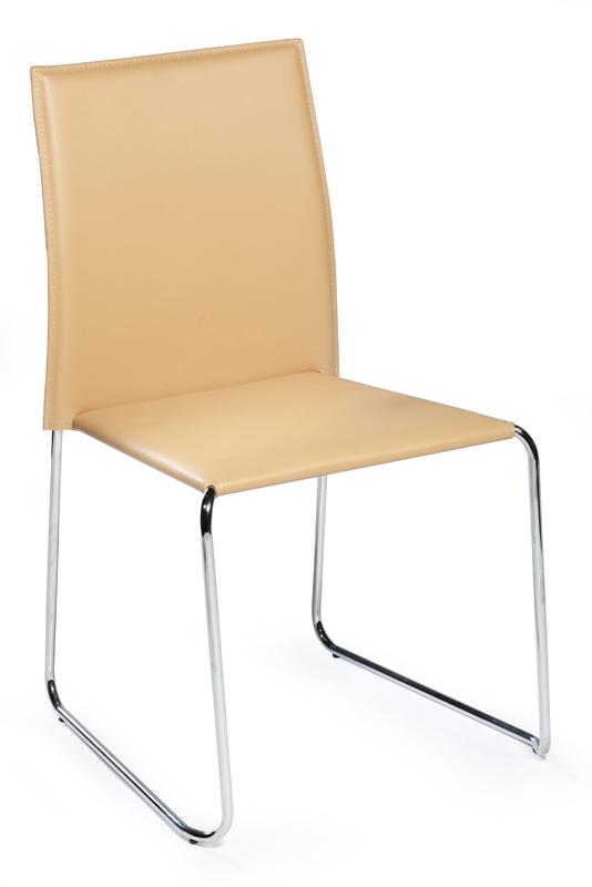 Dan-form Danform - vario spisebordsstol - beige reg. læder fra unoliving.com