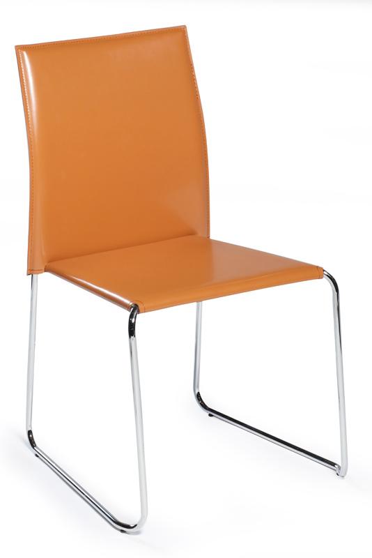 Danform - vario spisebordsstol - orange reg. læder fra Dan-form fra unoliving.com
