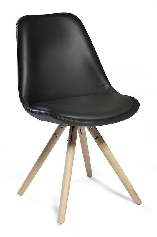 Danform - orso spisebordsstol - sort læder fra Dan-form på unoliving.com