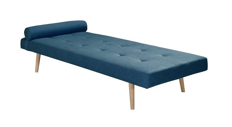 N/A Harvey daybed - blå stof m. ege ben fra unoliving.com