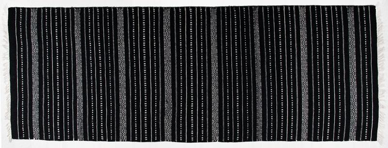 N/A Denver kelimtæppe - sort - 80x150 på unoliving.com