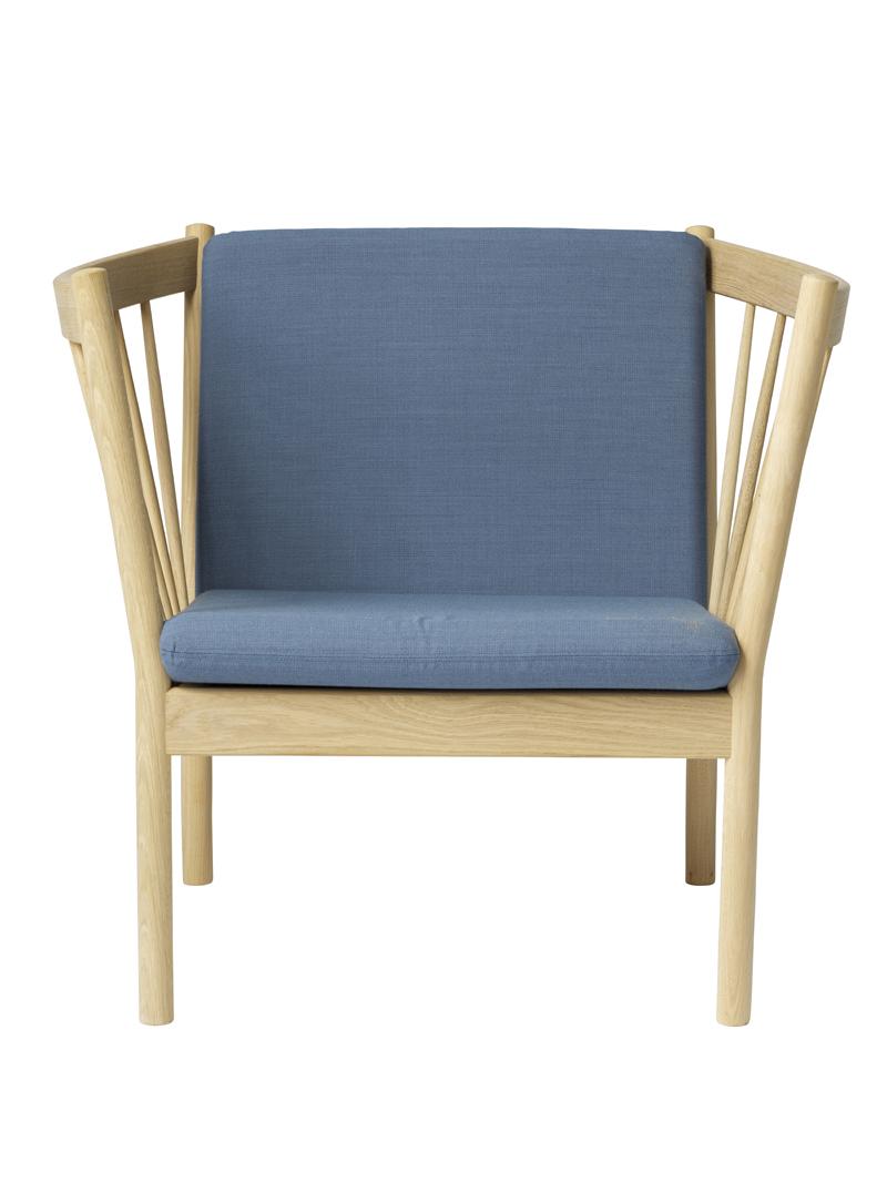 Billede af FDB Møbler - J146 Lænestol - Støvet blå