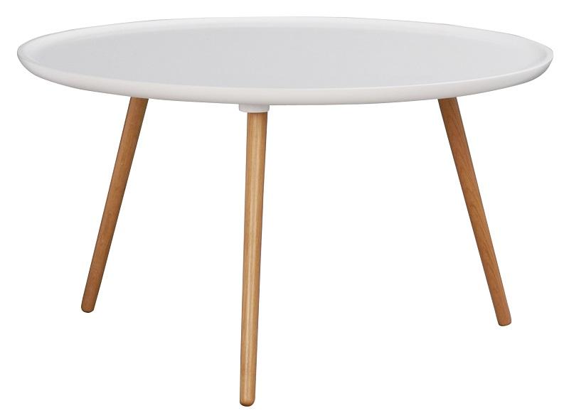 Flora sofabord - hvid og eg - ø80 fra N/A fra unoliving.com