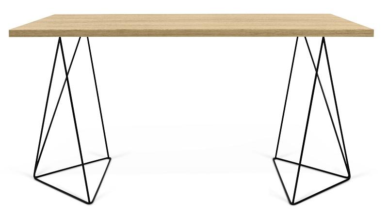 Temahome – Temahome - flow skrivebord - lys træ m/sort stel på unoliving.com