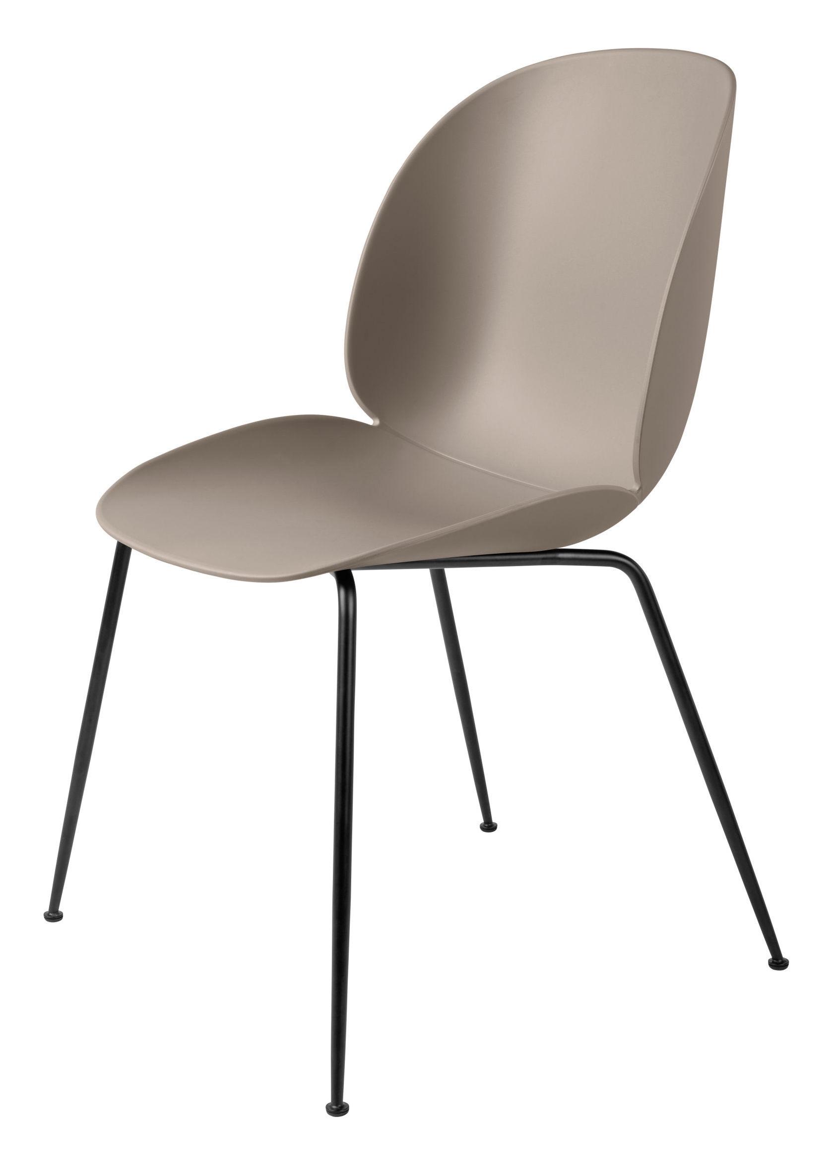 Gubi Gubi - beetle spisebordsstol - ny beige/sort stål på unoliving.com