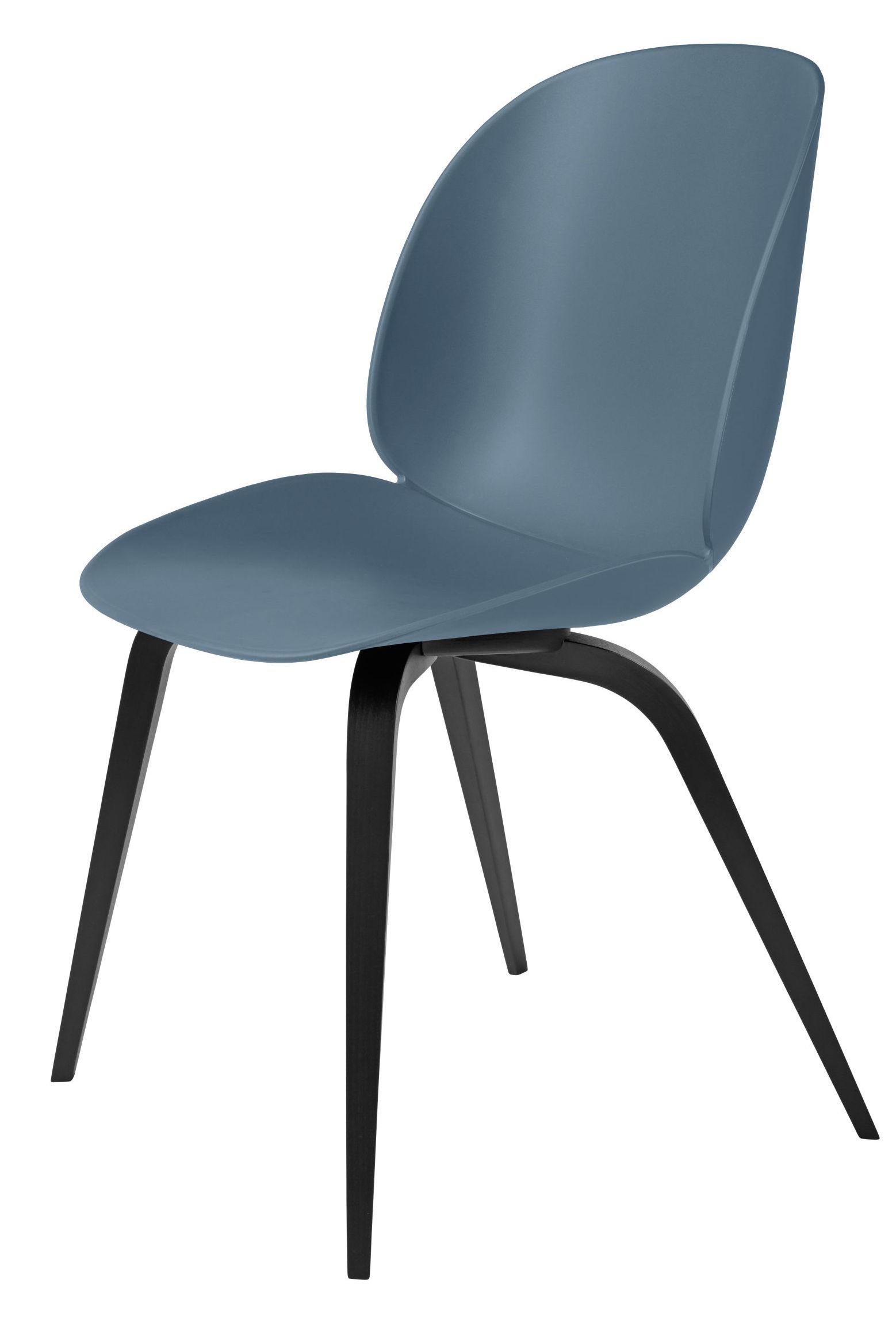 Gubi Gubi - beetle spisebordsstol - blue grey /sort bøg fra unoliving.com