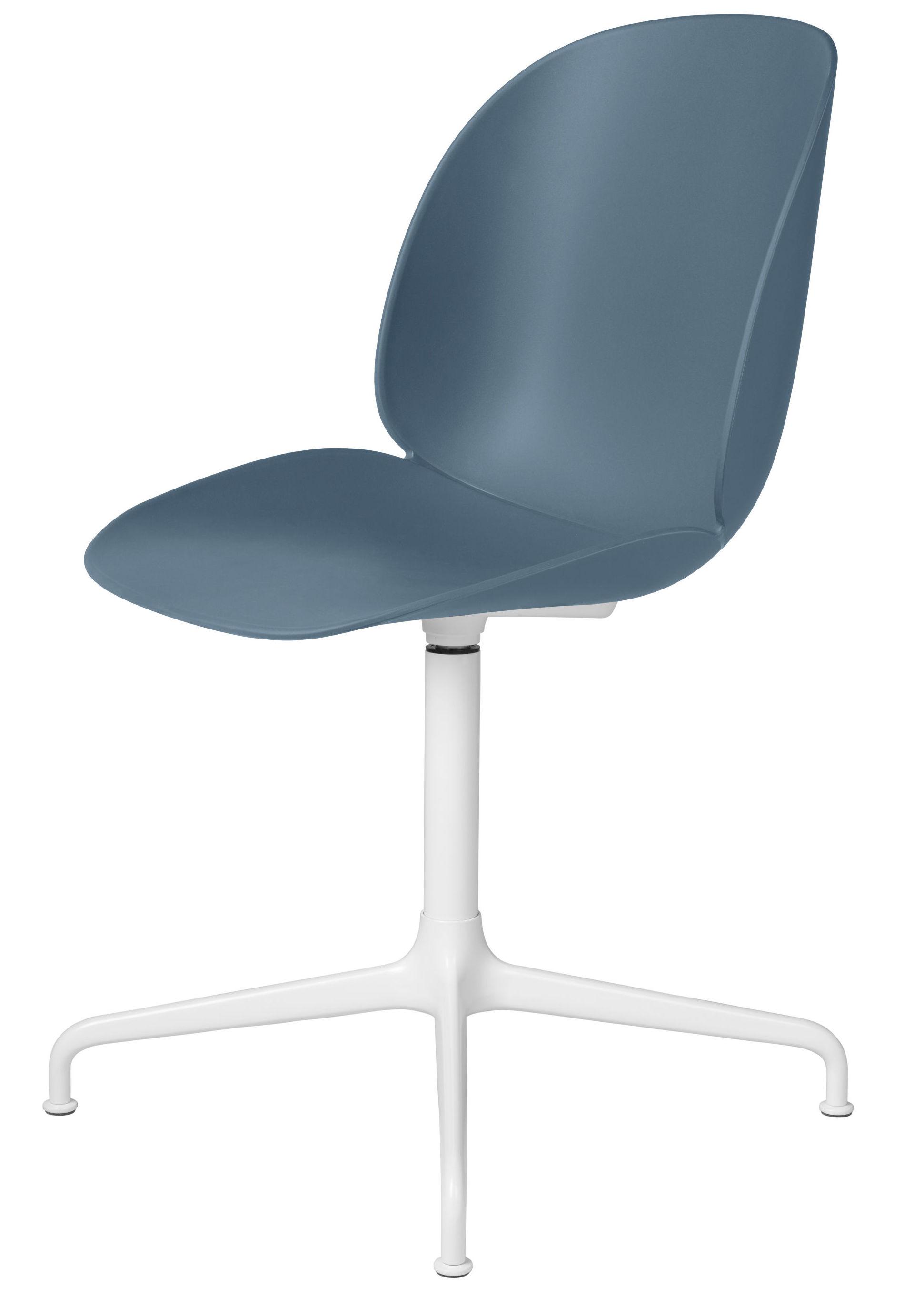 Gubi - beetle spisebordsstol swivel - blågrå/hvid fra Gubi fra unoliving.com