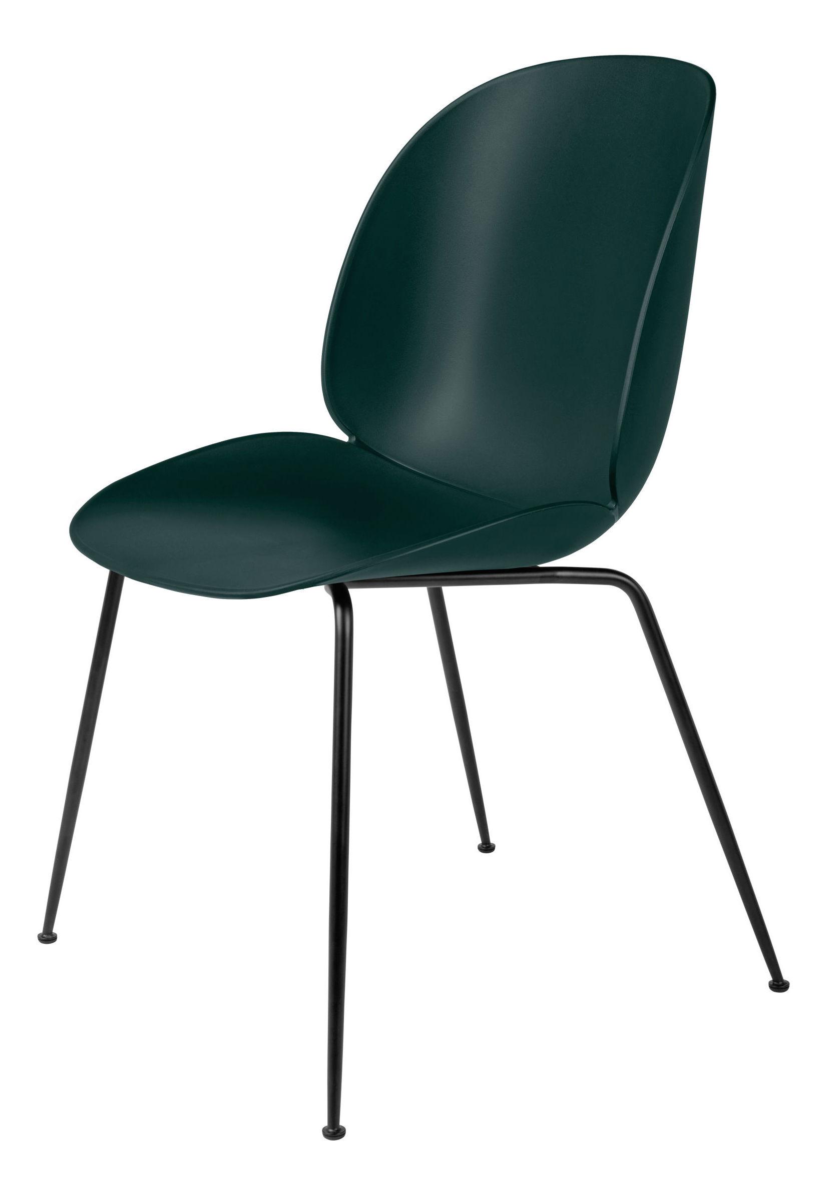Gubi - beetle spisebordsstol - grøn/sort stål fra Gubi på unoliving.com