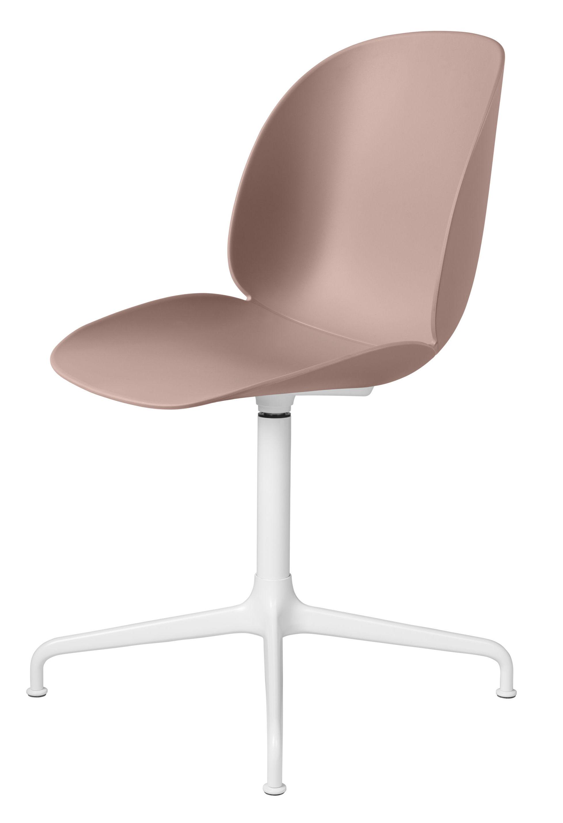Gubi - beetle spisebordsstol swivel, sweet pink/hvid fra Gubi fra unoliving.com